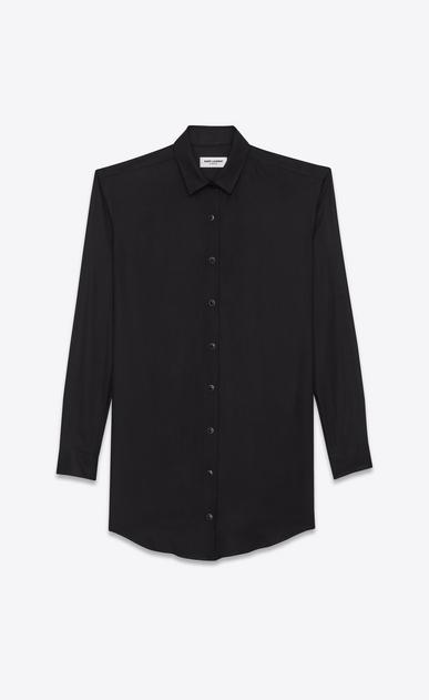 SAINT LAURENT Dresses D shirt dress in black viscose twill v4
