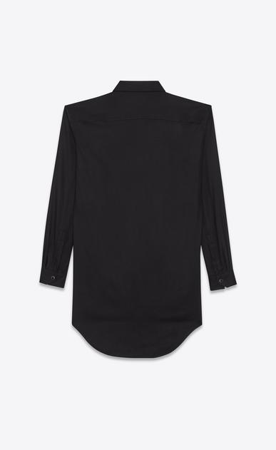 SAINT LAURENT Dresses D shirt dress in black viscose twill b_V4