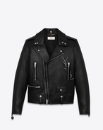 SAINT LAURENT Leather jacket D Classic Black YSL Motorcycle Jacket f
