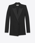 SAINT LAURENT Dresses D le smoking short jumper in black wool f