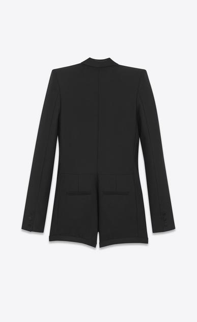 SAINT LAURENT Dresses D le smoking short jumper in black wool b_V4