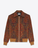 SAINT LAURENT Blousons D Blouson teddy Marrakech rouge safran f
