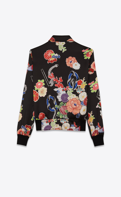 SAINT LAURENT Casual Jackets D printed teddy love jacket in black and multicolor viscose b_V4