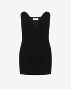 SAINT LAURENT Dresses D Black Sweetheart Mini Dress in velours f
