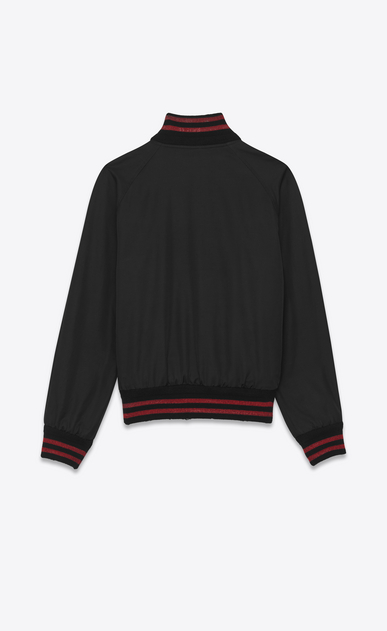 SAINT LAURENT Casual Jackets Man teddy jacket in black and red cotton b_V4