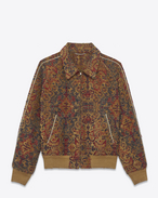 SAINT LAURENT Blousons U Blouson de baseball TEDDY Marrakech rouge safran  f