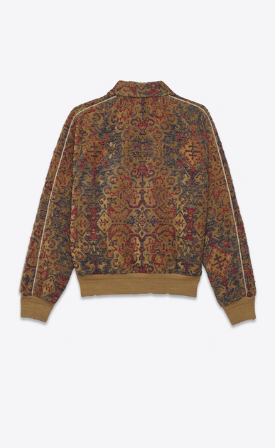 SAINT LAURENT Casual Jackets U marrakech teddy baseball jacket in saffron red woven fabric b_V4