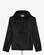 SAINT LAURENT Casual Jackets U Black Hooded Lightweight Anorak f