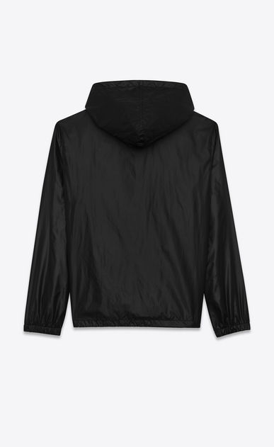 SAINT LAURENT Casual Jackets U hooded lightweight anorak in black nylon b_V4