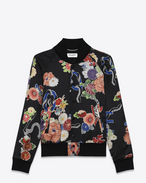 SAINT LAURENT Blousons U blouson teddy « love » léger en viscose multicolore f