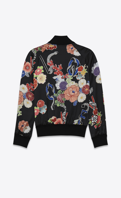 "SAINT LAURENT Casual Jackets U teddy lightweight ""love"" jacket in multicolor viscose b_V4"