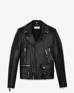 SAINT LAURENT Leather jacket U Classic YSL Black Motorcycle Jacket f