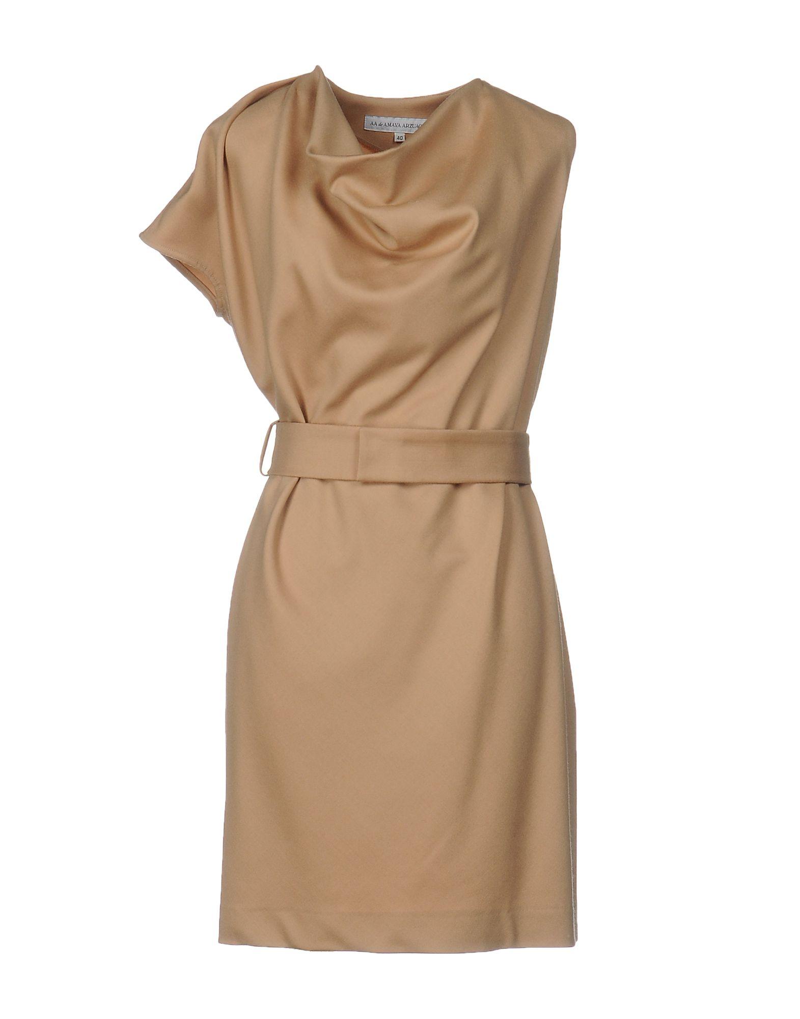 AA de AMAYA ARZUAGA Damen Kurzes Kleid Farbe Kamel Größe 5