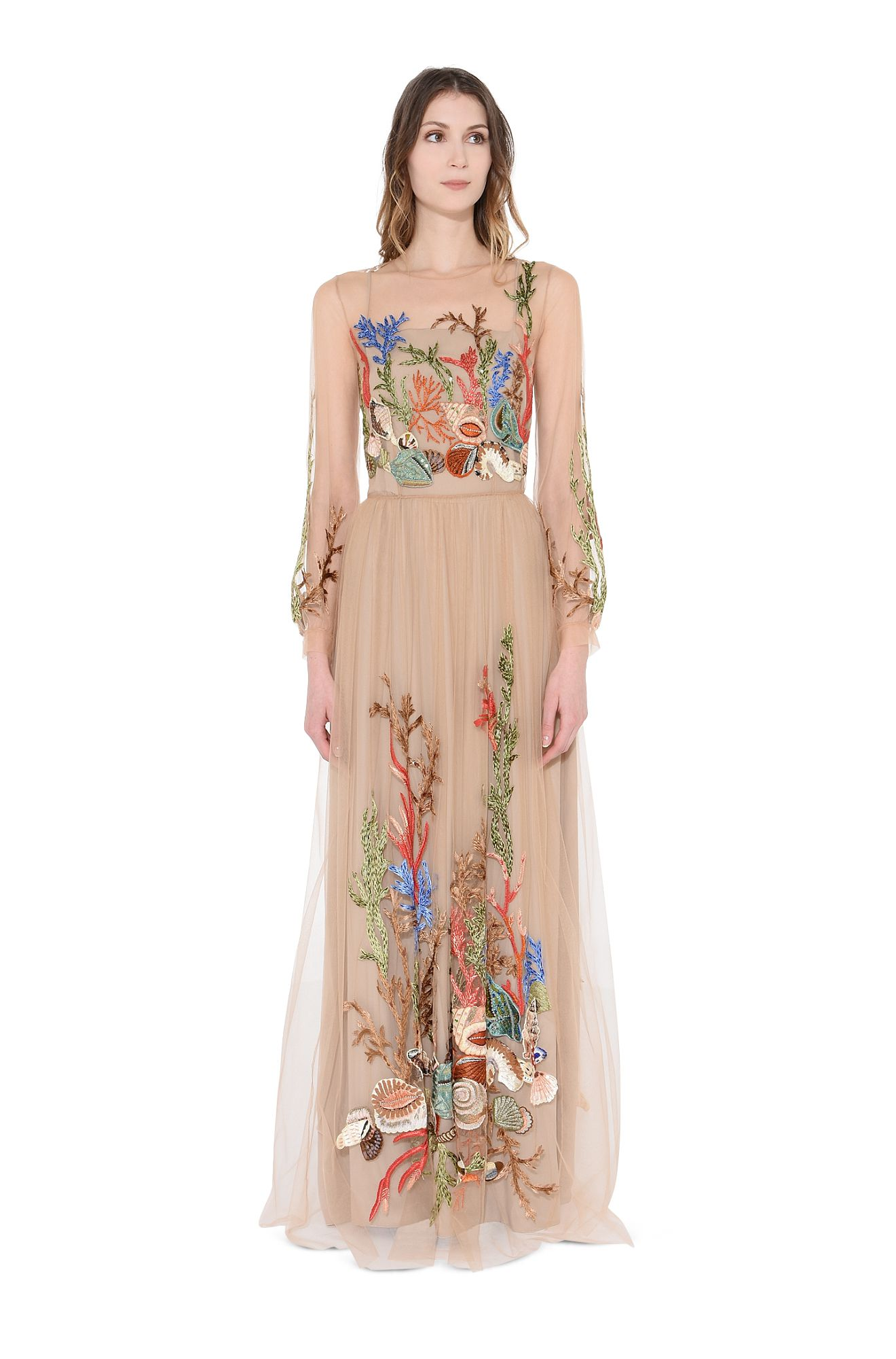 EMBROIDERED SHELL-DRESS
