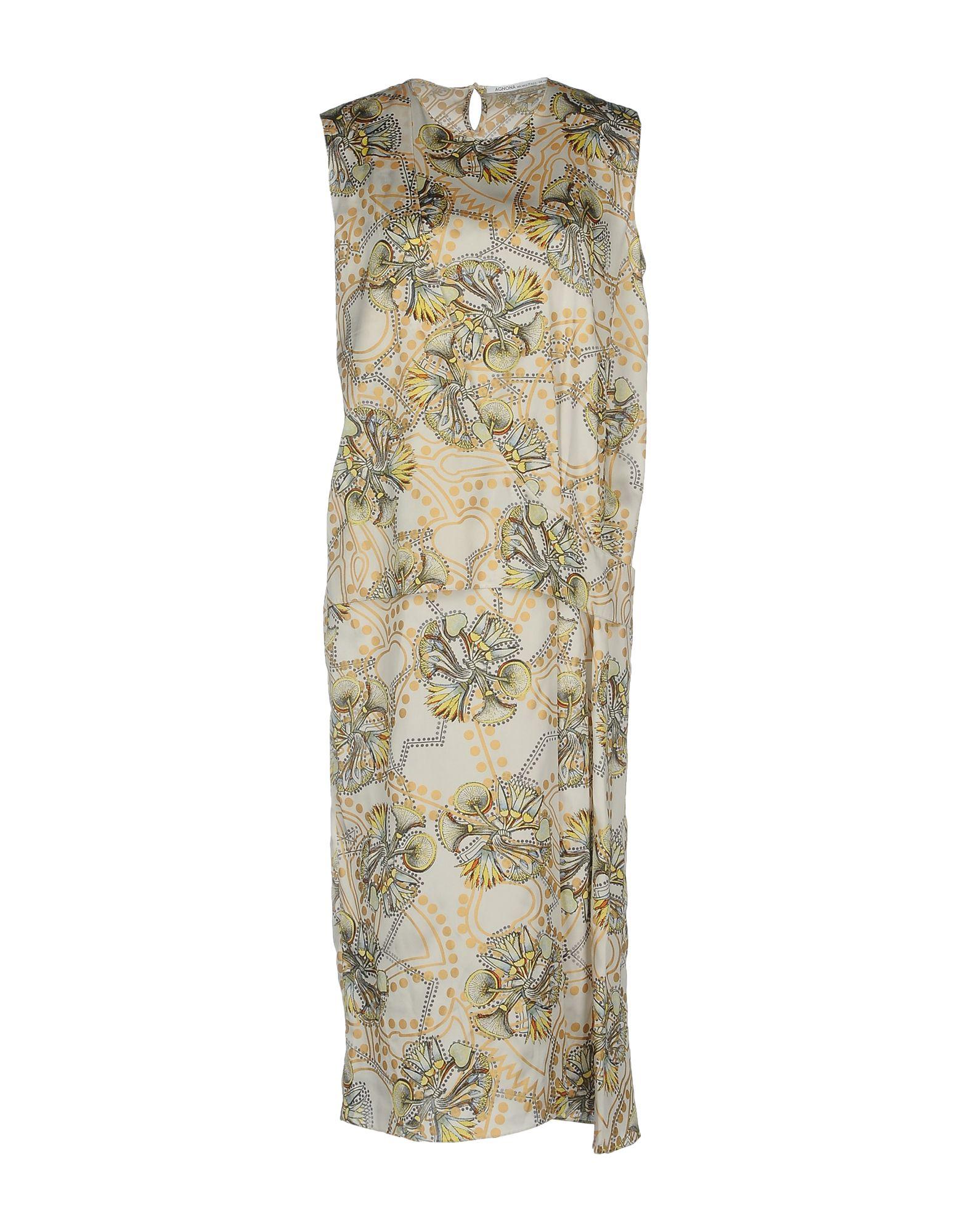 где купить AGNONA Платье до колена по лучшей цене