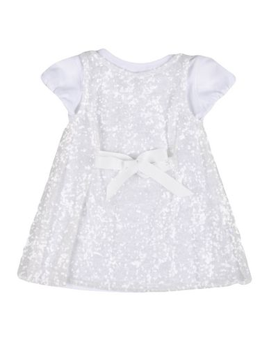 PATRIZIA PEPE Baby Kleid Weiß Größe 9 100% Polyester