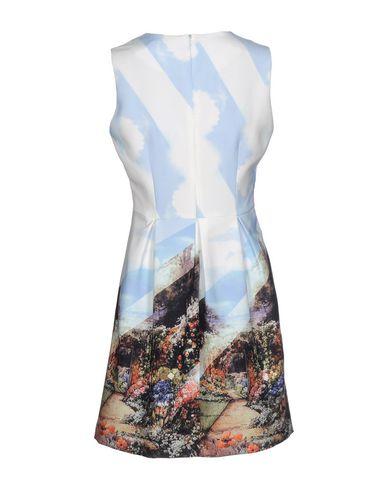 Фото 2 - Женское короткое платье ANONYME DESIGNERS небесно-голубого цвета