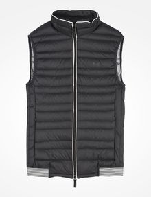ARMANI EXCHANGE FUNNELNECK CHANNEL-QUILTED PUFFER VEST PUFFER JACKET Man b