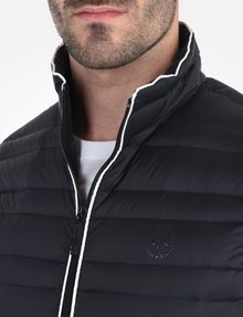 ARMANI EXCHANGE FUNNELNECK CHANNEL-QUILTED PUFFER VEST PUFFER JACKET [*** pickupInStoreShippingNotGuaranteed_info ***] e