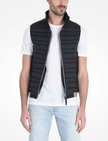 ARMANI EXCHANGE FUNNELNECK CHANNEL-QUILTED PUFFER VEST PUFFER JACKET Man f