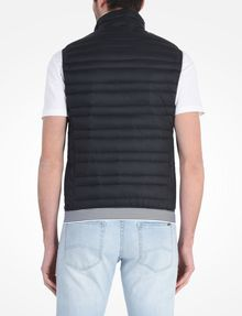 ARMANI EXCHANGE FUNNELNECK CHANNEL-QUILTED PUFFER VEST PUFFER JACKET Man r