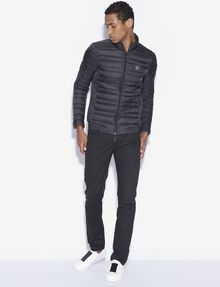 ARMANI EXCHANGE BICOLOR STAND COLLAR PUFFER PUFFER JACKET Man d