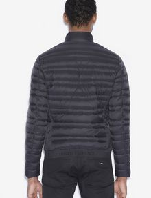 ARMANI EXCHANGE BICOLOR STAND COLLAR PUFFER PUFFER JACKET Man e