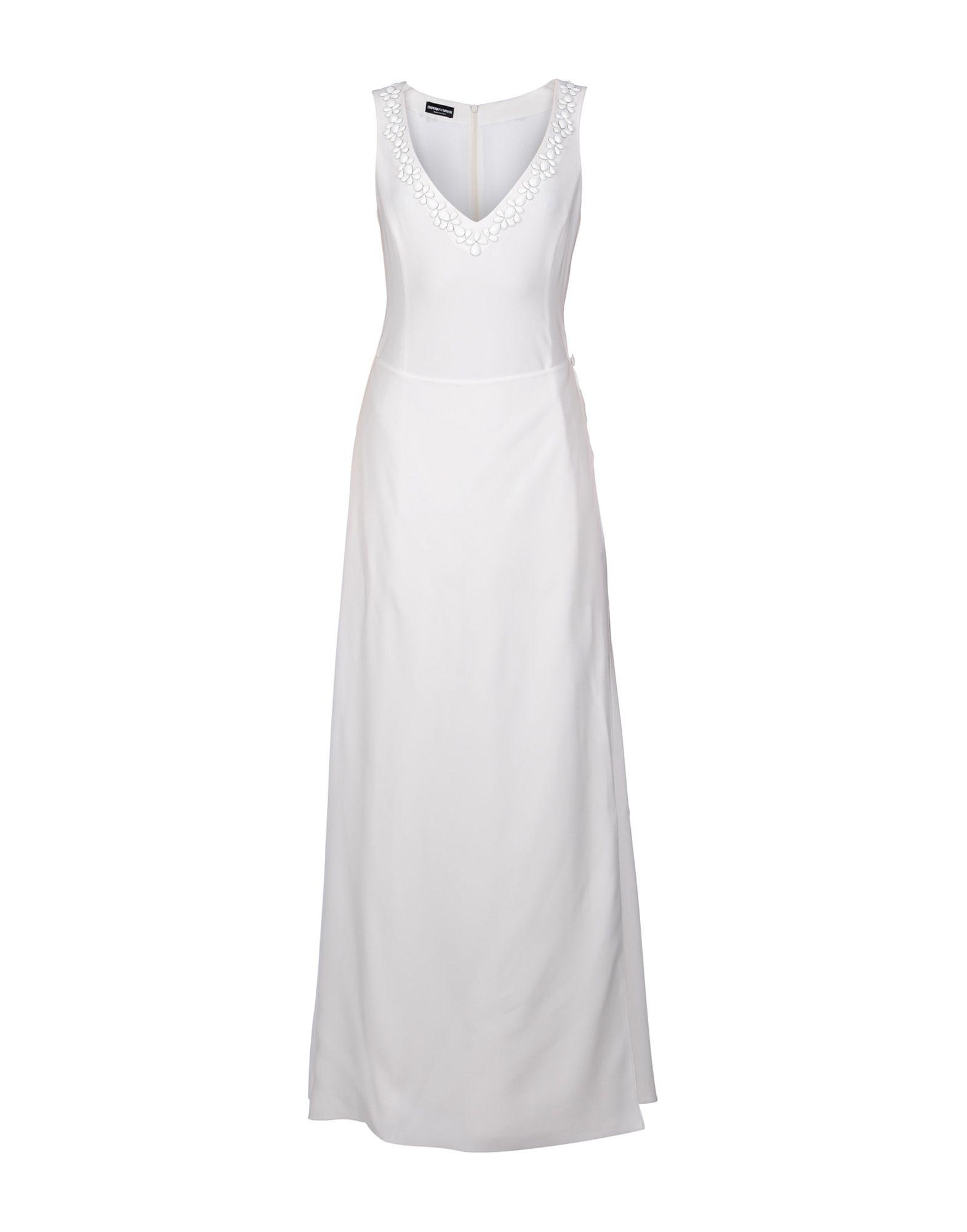 EMPORIO ARMANI Длинное платье платье короткое спереди длинное сзади летнее