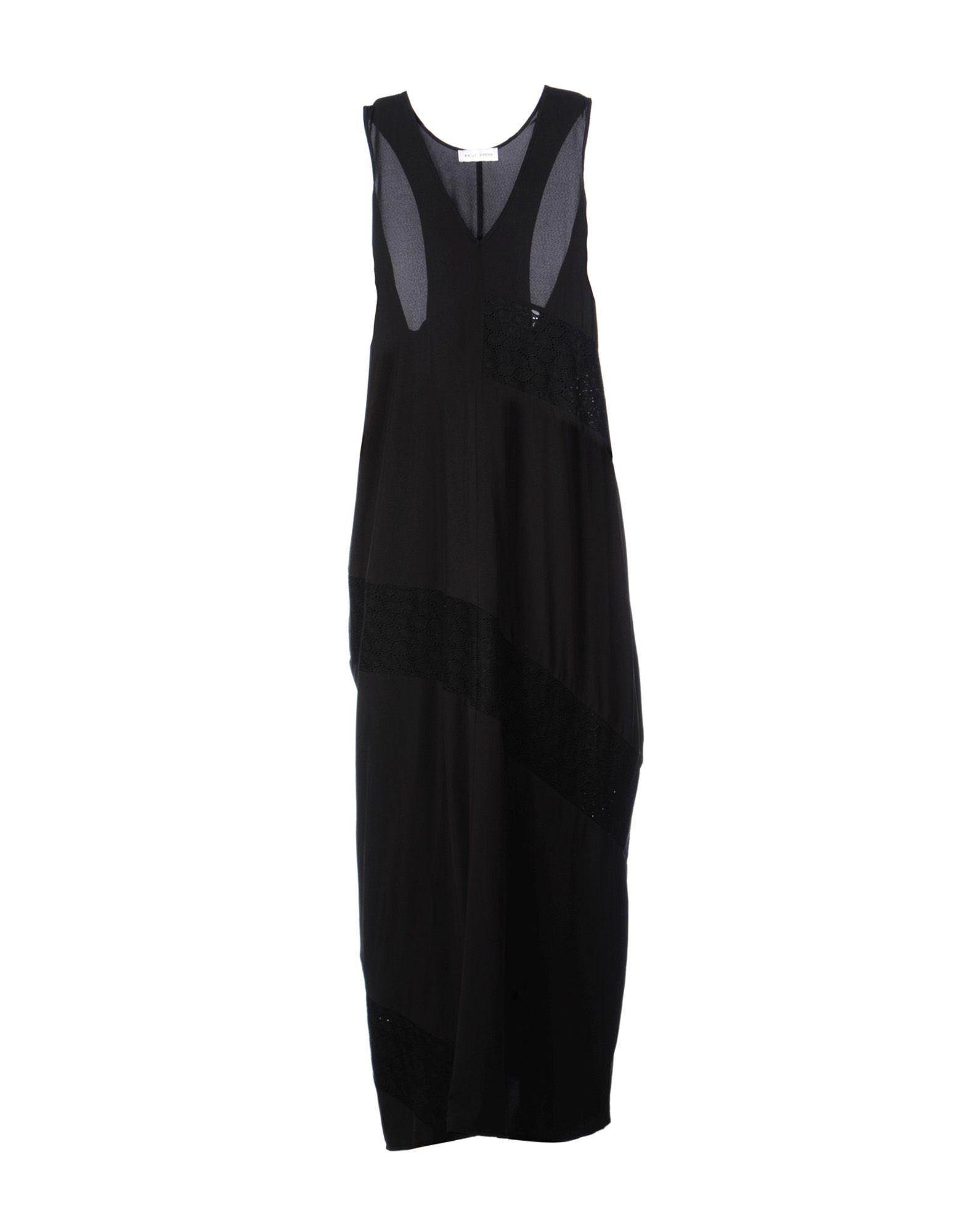 《送料無料》WEILI ZHENG レディース ロングワンピース&ドレス ブラック S ポリエステル 100% / コットン