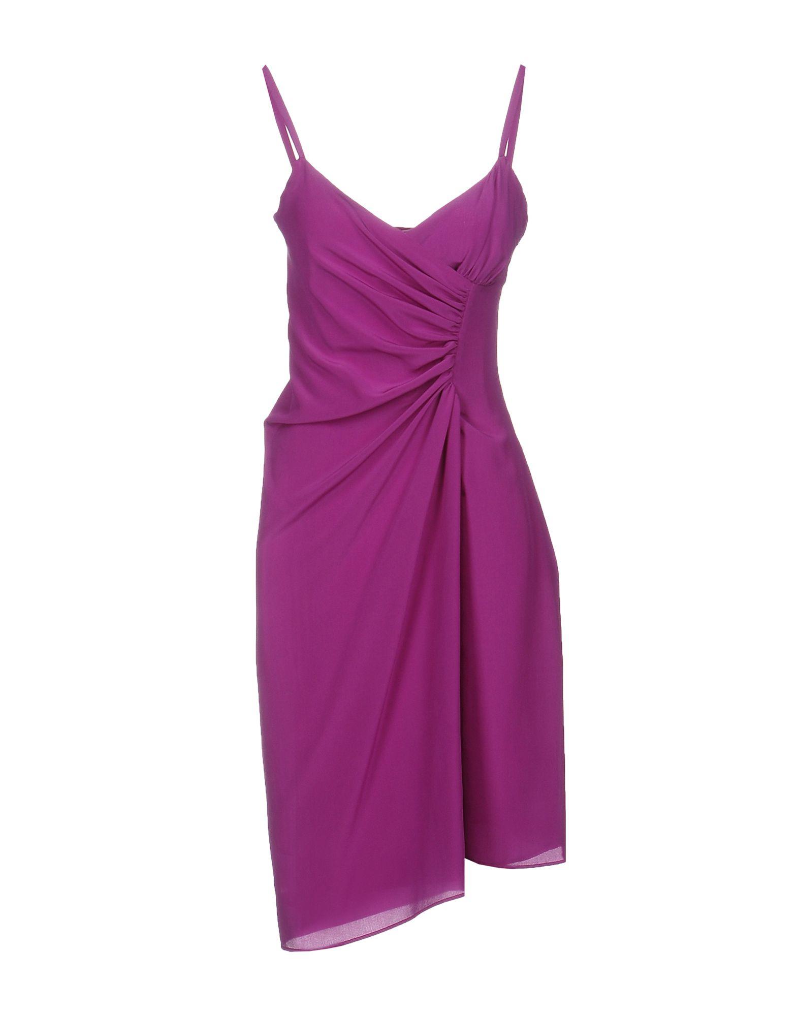 Платье до колена  Фиолетовый цвета