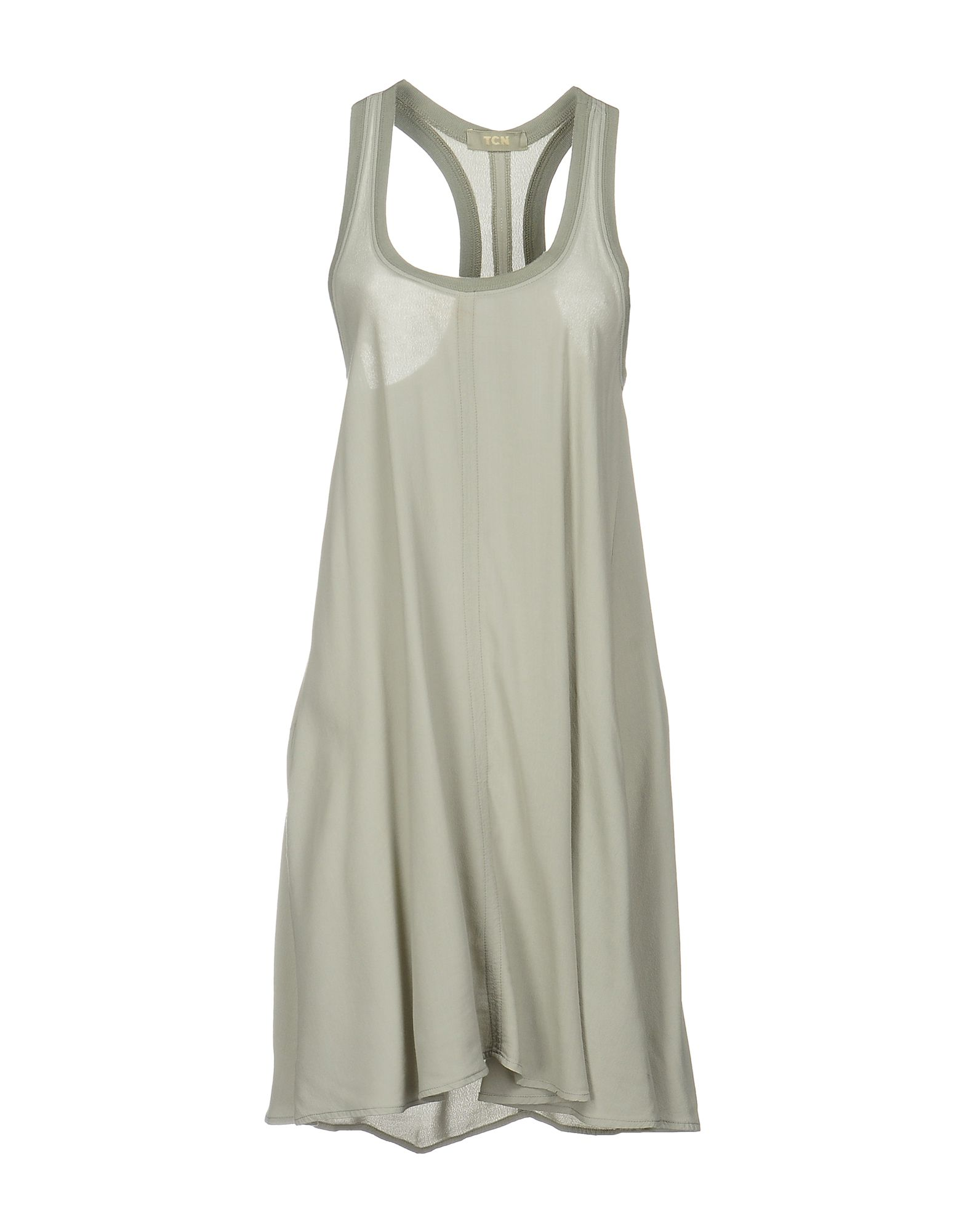 TOTON COMELLA - TCN Damen Kurzes Kleid Farbe Hellgrau Größe 5