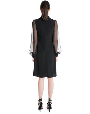 LANVIN CHIFFON AND CREPE DE CHINE DRESS Dress D e