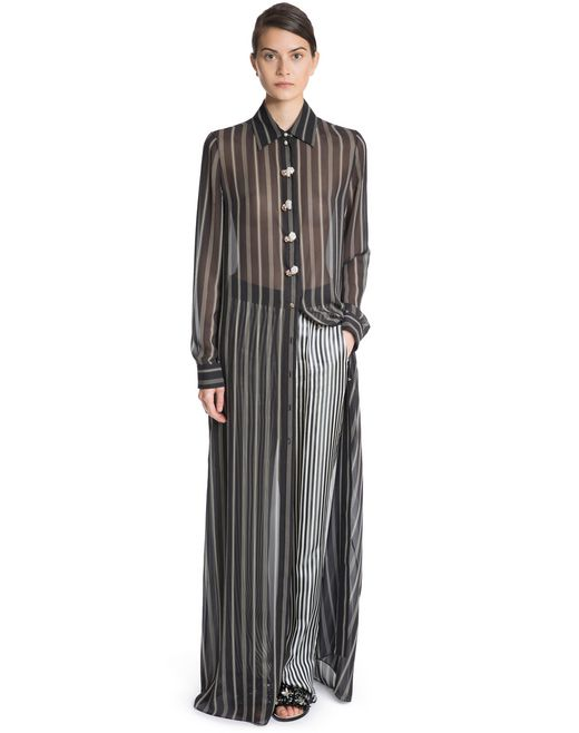 lanvin silk shirt dress  women