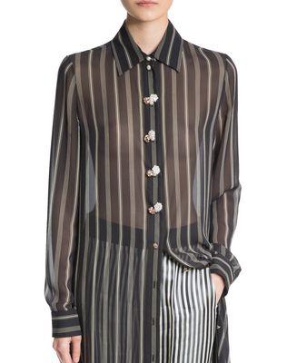 LANVIN SILK SHIRT DRESS Long dress D r