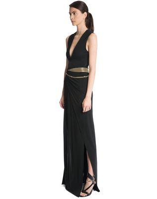LANVIN LONG CREPE JERSEY DRESS Long dress D d