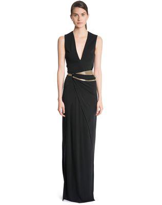 LANVIN LONG CREPE JERSEY DRESS Long dress D f