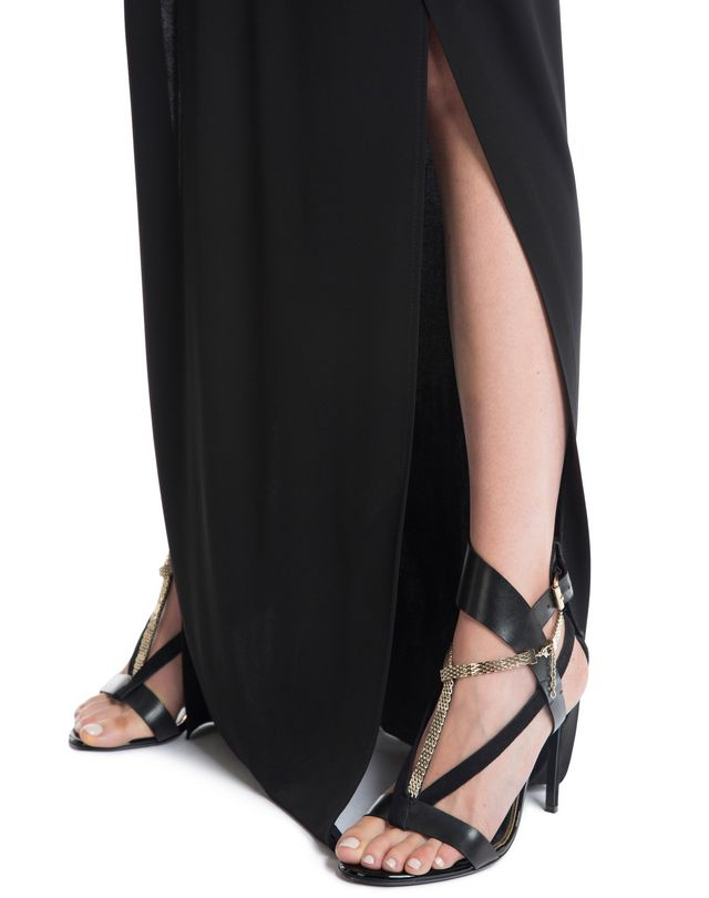 LANVIN LONG CREPE JERSEY DRESS Long dress D b