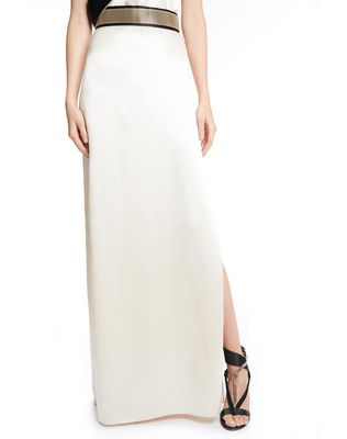 LANVIN LONG MIRRORED SATIN DRESS Long dress D a