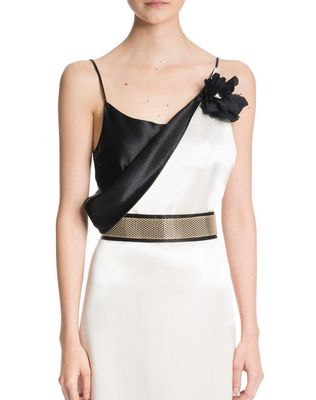 LANVIN LONG MIRRORED SATIN DRESS Long dress D r
