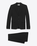 SAINT LAURENT Suits U classic suit in black gabardine virgin wool f