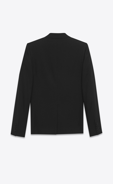 SAINT LAURENT Suits Man classic suit in black gabardine virgin wool b_V4