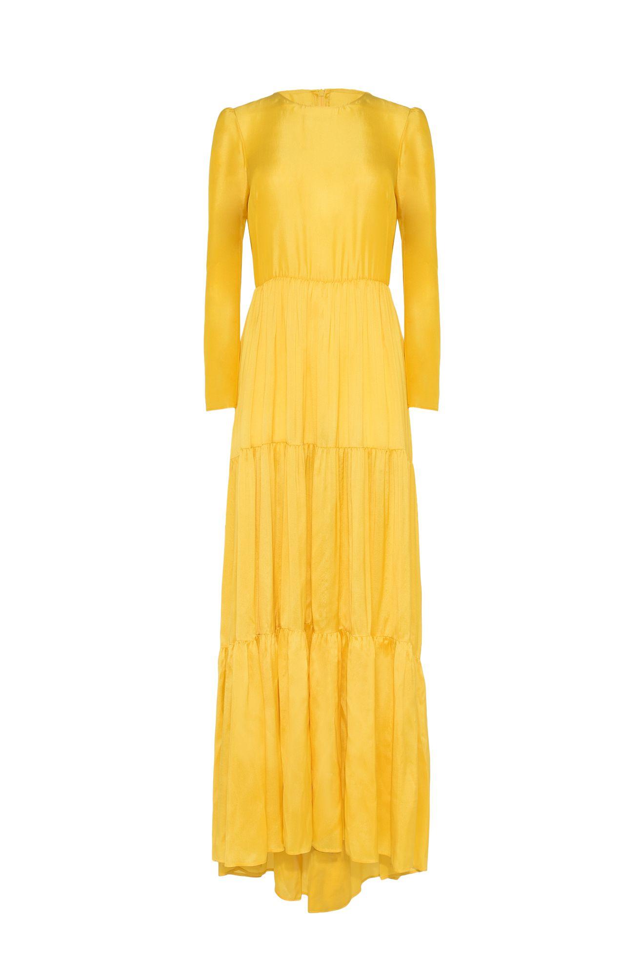 NOSTALGIC YELLOW DRESS