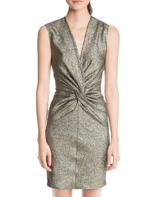 LANVIN SAND LAMÉ DRESS Dress D a