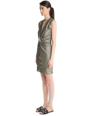 LANVIN SAND LAMÉ DRESS Dress D d