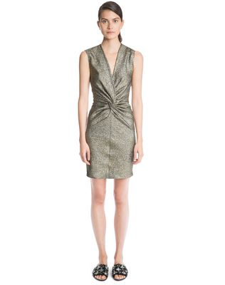 LANVIN SAND LAMÉ DRESS Dress D f