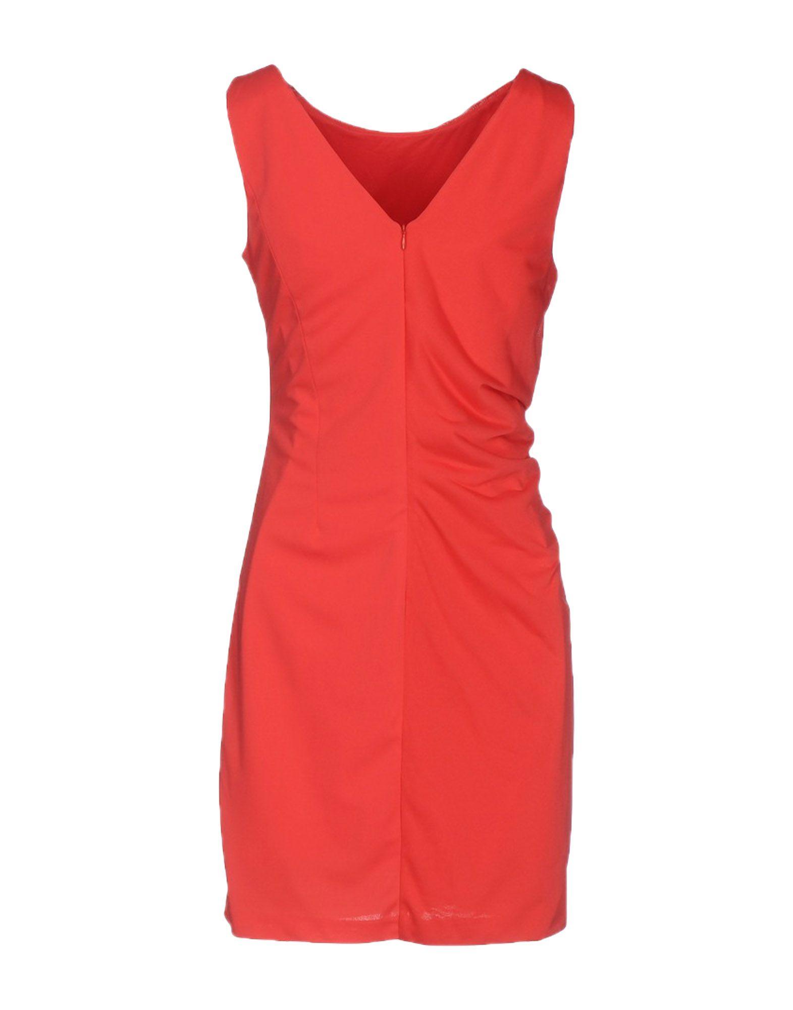 - HALSTON HERITAGE Damen Kurzes Kleid Farbe Rot Größe 5, 34722305MM-5