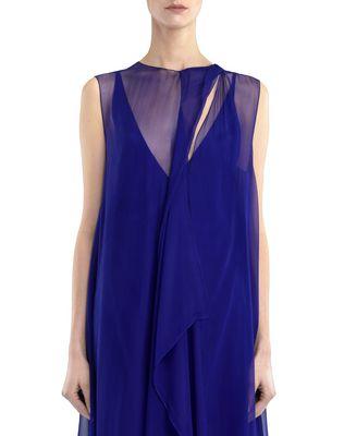 LANVIN LONG CHIFFON DRESS Dress D r