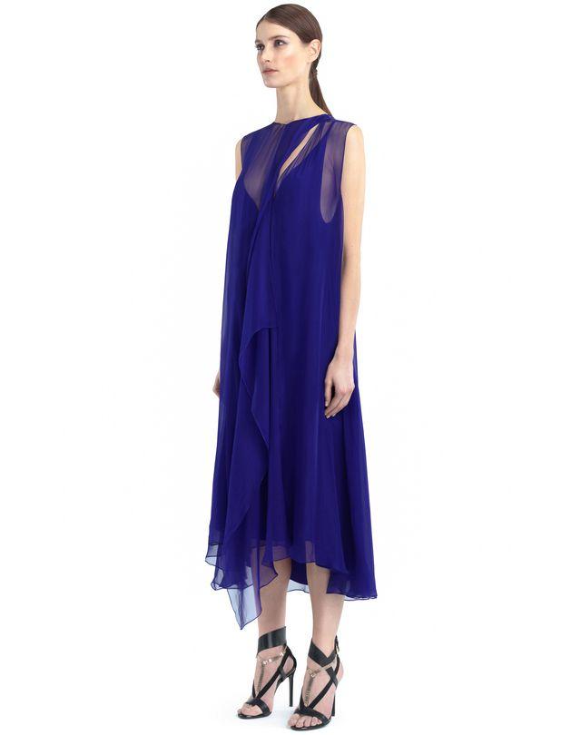 LANVIN LONG CHIFFON DRESS Dress D d