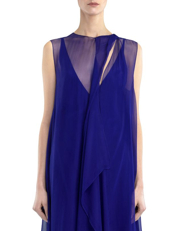 LANVIN LONG CHIFFON DRESS Dress D r