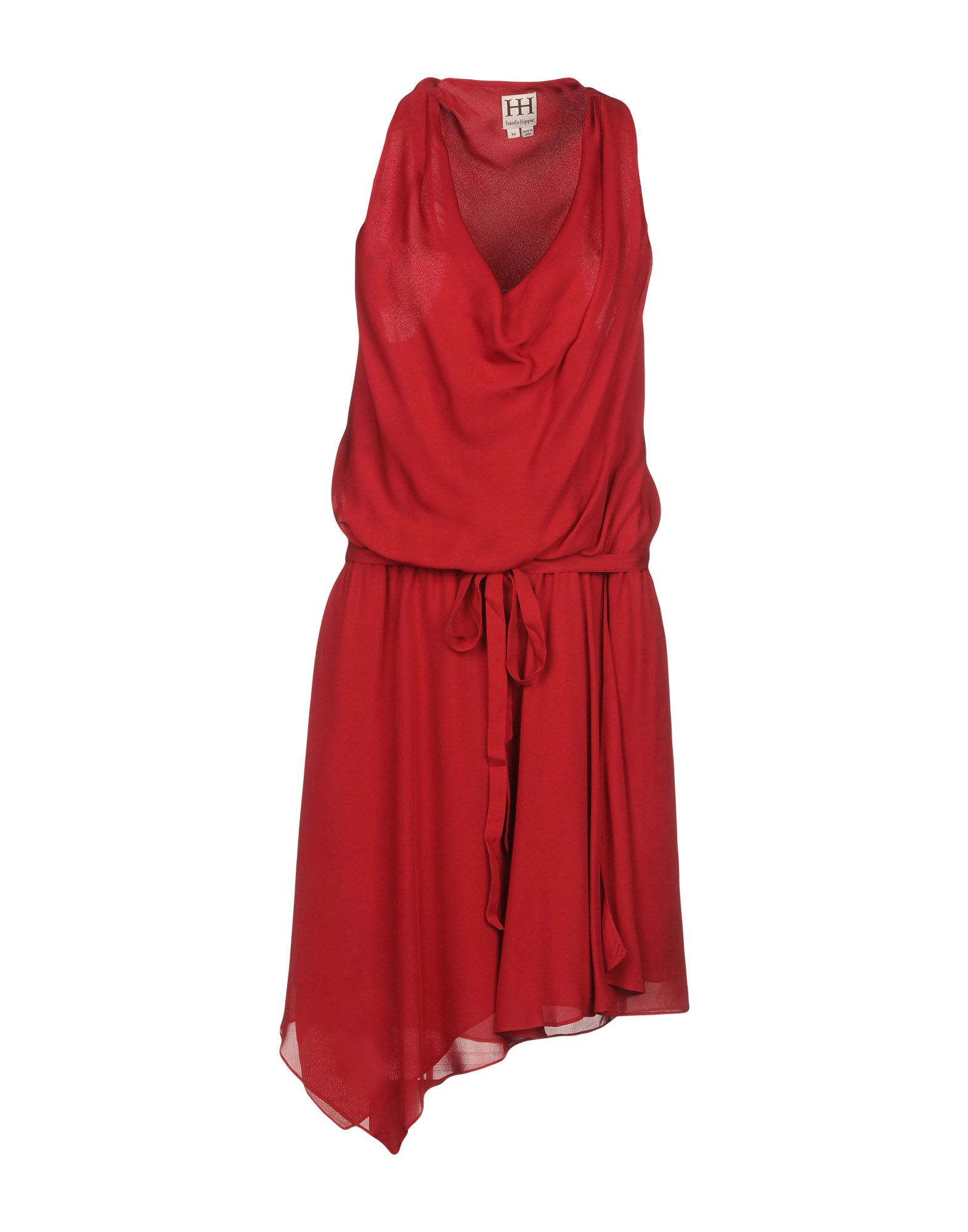 HAUTE HIPPIE Damen Kurzes Kleid Farbe Ziegelrot Größe 5